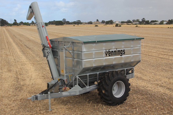 22 ton 27 M3 Galvanised Chaser Bin - Vennings - The Bulk Grain