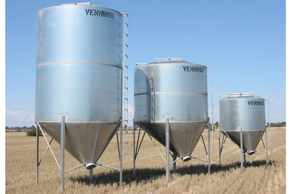 Galvanised Silos - Vennings - The Bulk Grain Handling