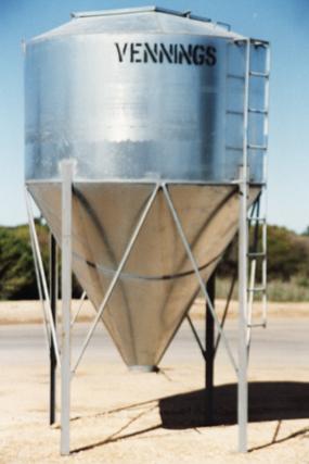 Galvanised Silos Vennings The Bulk Grain Handling